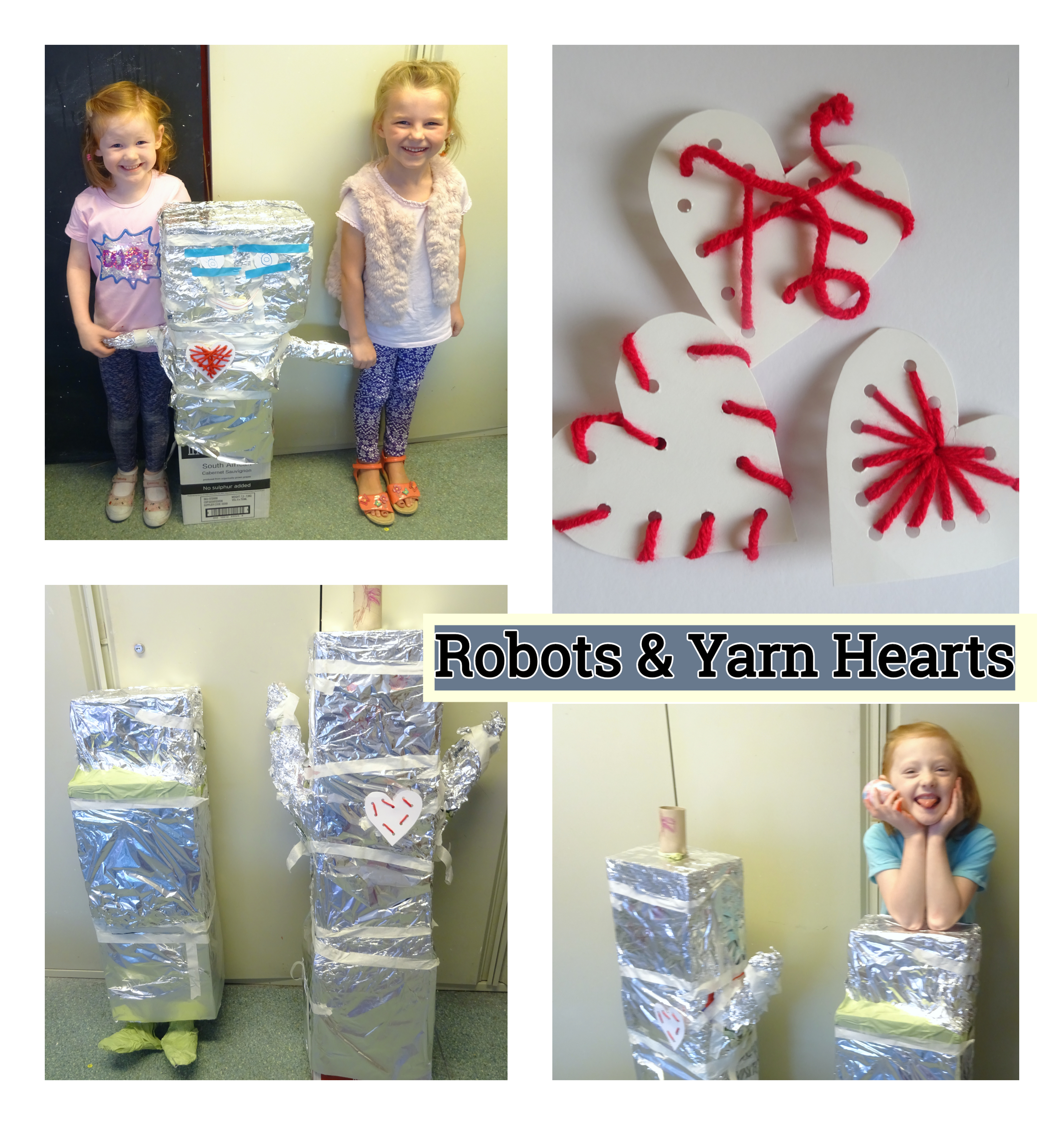Robots & Yarn Hearts