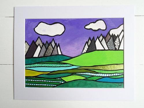 Green Fields Purple