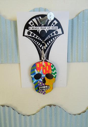 Sugar Skull Earring 17