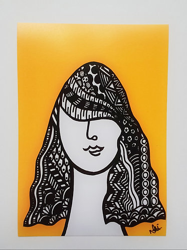 Art Card Hey Girls Retro 14 70's