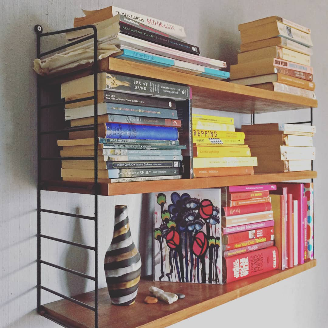 Art Card on String Shelf