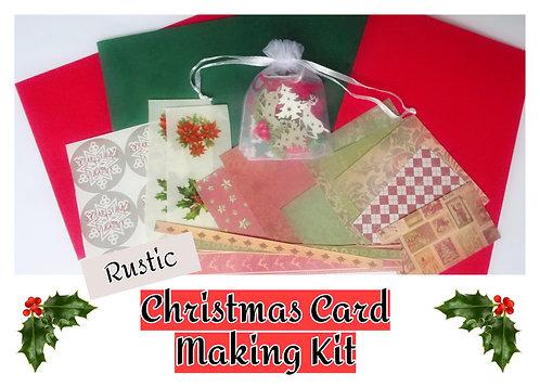 Craft Kit - Rustic Christmas Card Making