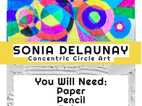 Concentric Circle Art (Sonia Delaunay)