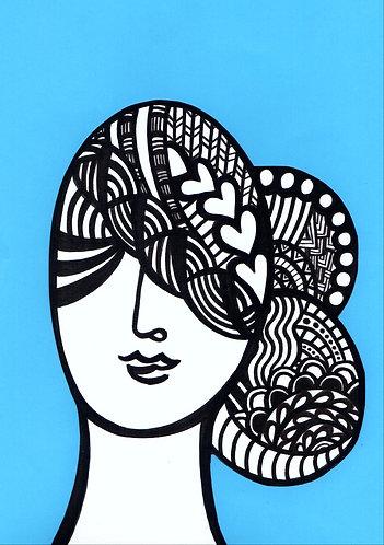 Art Card Hey Girls 6