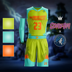 Scooby Doo x Timberwolves Jersey Concept