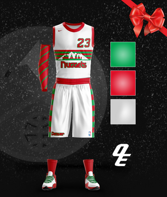 Nuggets Rainbow Throwback Christmas Jerse