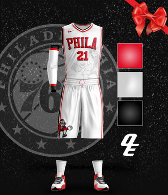 Philadelphia 76ers Christmas Jersey