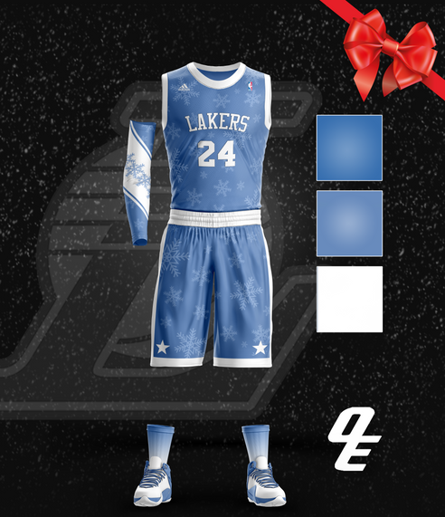 Lakers Hardwood Christmas Jerse