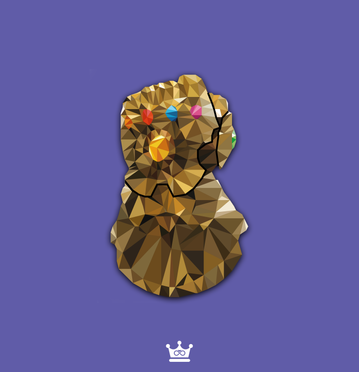 Infinity Gauntlet Low Poly
