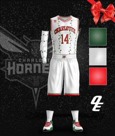 1993-94 Charlotte Hornets Christmas Jersey