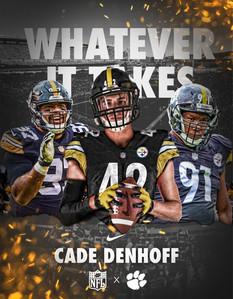 Cade Denhoff Steelers Jersey Swap