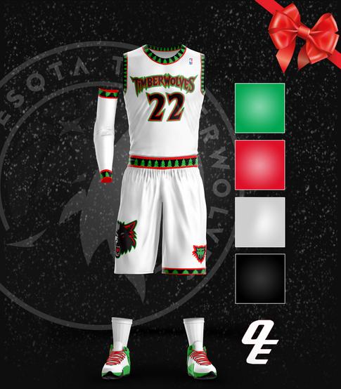 1998-99 Timberwolves Throwback Christmas Jersey