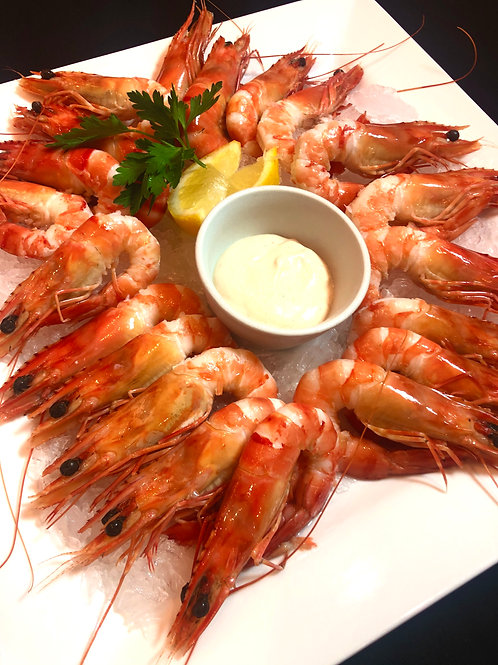 Fresh King Prawn Platter (Shelled & Deveined) $55 per platter