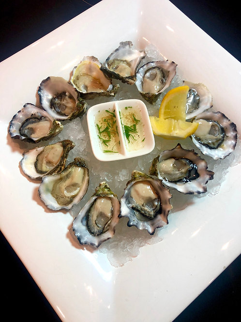 Freshly Shucked Sydney Rock & Pacific Oysters $34.50 per doz