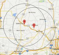 Map of Ohio Areas we Service
