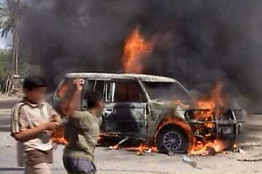 Iraq, vehicle attack, June 2004, contrac