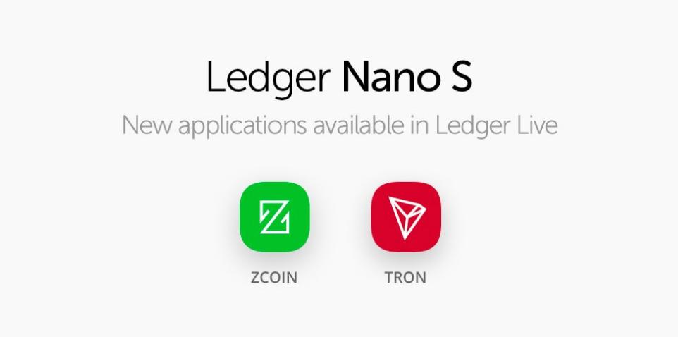 Ledger adds Tron (TRX)