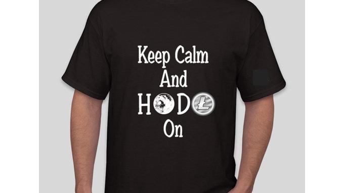 Keep Calm And HODL On Litecoin Tshirt