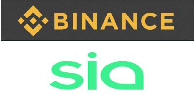 binance lists siacoin