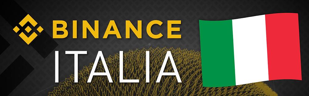 Binance available in Italian