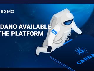 EXMO Cryptocurrency Exchange Lists Cardano (ADA)