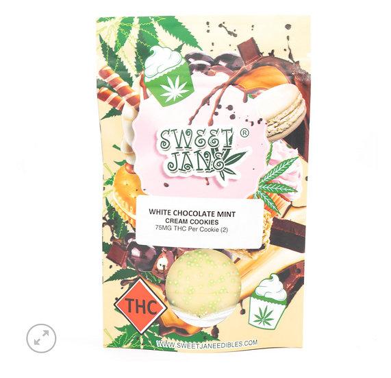 White Chocolate Mint Cream Cannabis Cookies 150mg THC (Sweet Jane)
