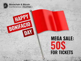 Blockchain revolution is here: in honor of Bonifacio Day, tickets to the Philippines' major blockcha
