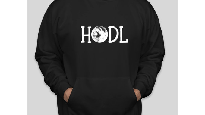 HODL To The Moon Hoodie Sweatshirt