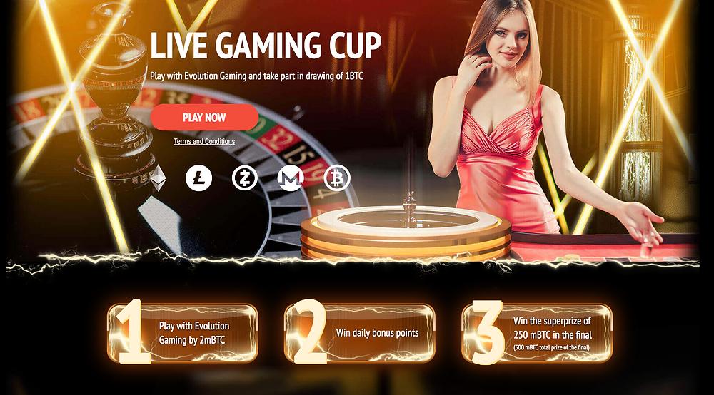 1XBit Live Gaming Cup - Win 1BTC