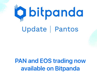 PAN and EOS trading now available on Bitpanda