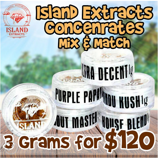 Island Extracts Concentrates Mix and Match