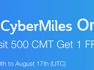 CoinEx - CyberMiles Online: Deposit 500 CMT Get 1 CET