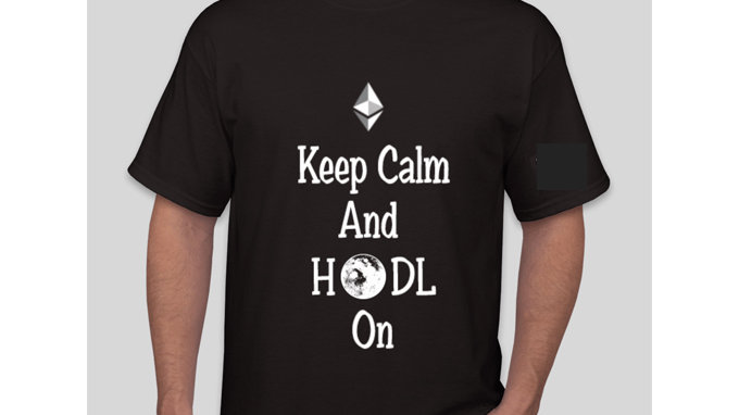 Keep Calm And HODL On Ethereum Tshirt