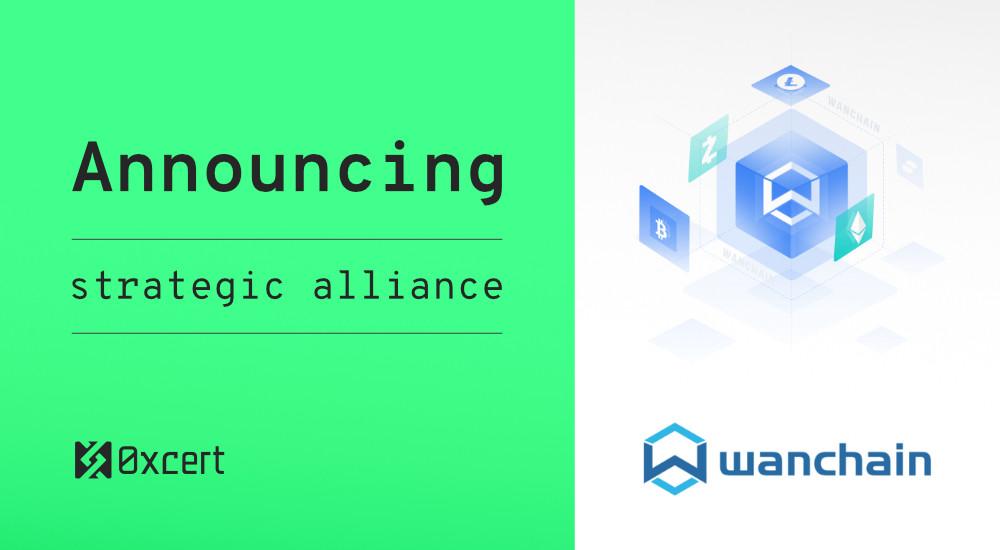 Oxcert announces strategic alliance with Wanchain