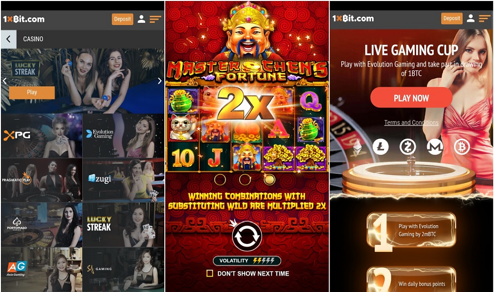 1Xbit cryptocurrency casino