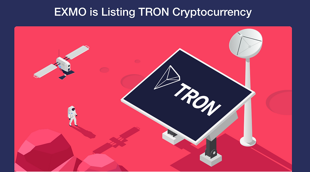 EXMO is listing TRON (TRX) cryptocurrency