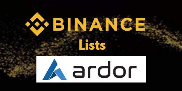 Binance lists Ardor (ARDR)