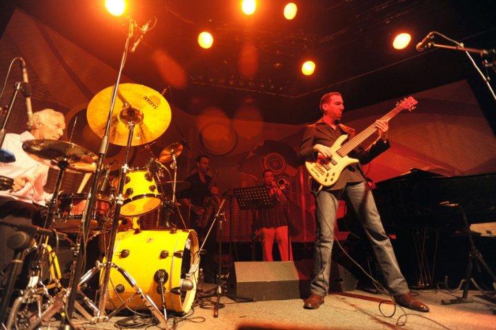 With Master Drummer Efrain Toro