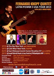 Fernando Knopf Quintet - USA Tour 2015
