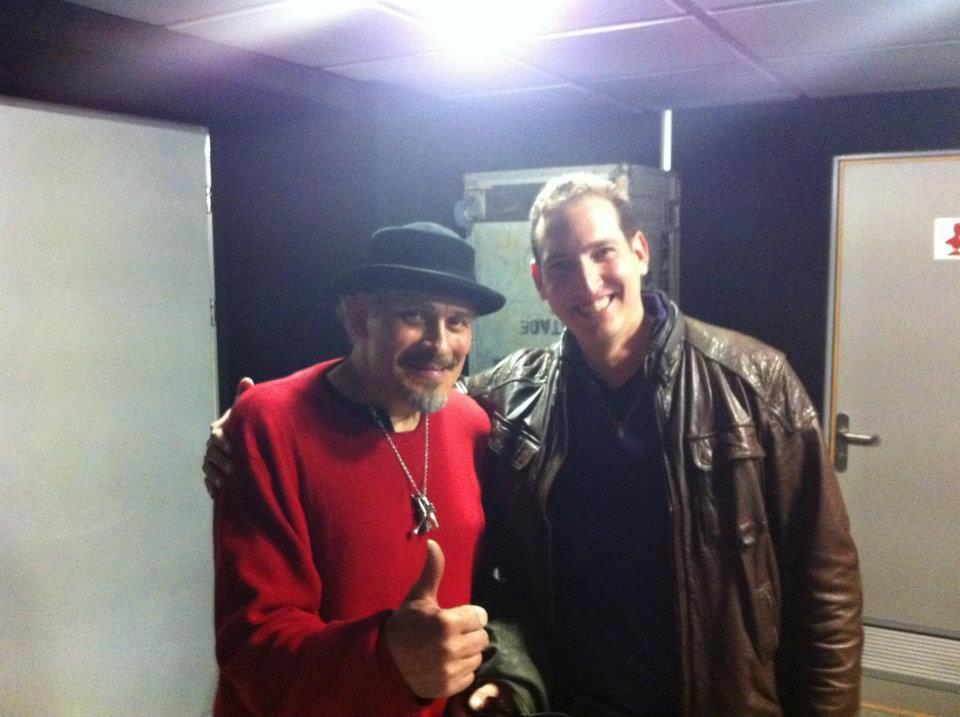With Jerry Gonzalez