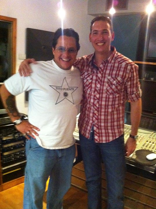 with Tito Puente Jr
