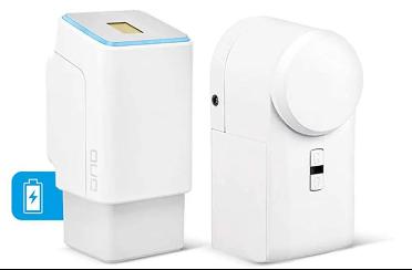 Mit einer smarten Türöffnung öffnet sich die Tür zu ihrem Smart Home per Fingerabdruckscanner.