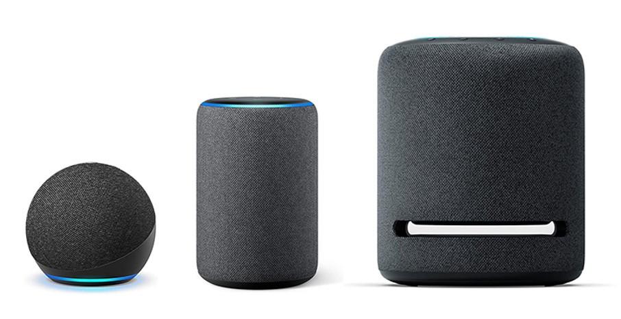 Die Amazon Smart Speaker für Ihr Smart Home gibt es in unterschiedlichen Größen und Preisklassen.