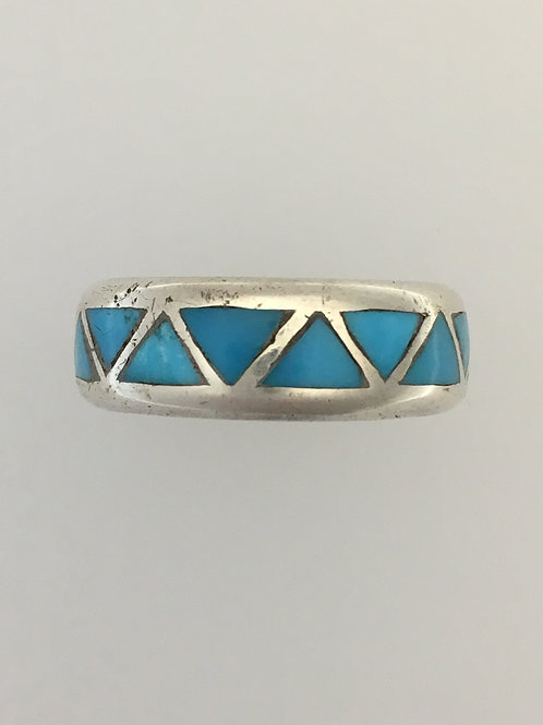 925 Turquoise Ring Size - 10 1/4