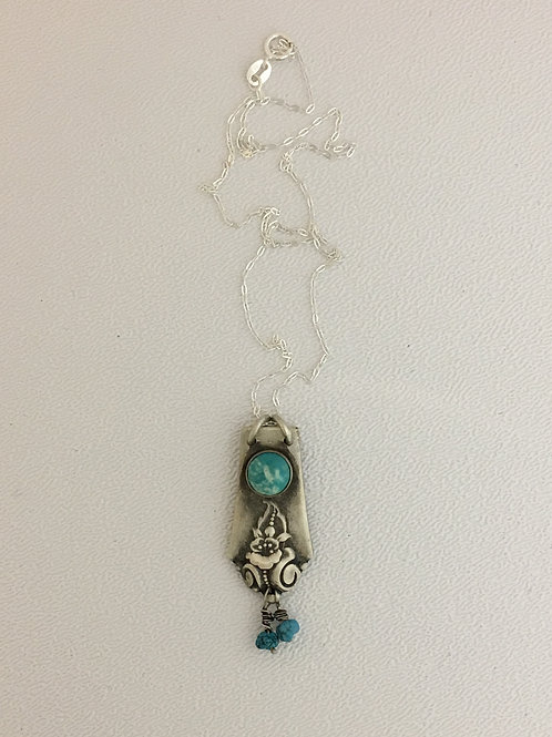 "925 & Turquoise 16"" Necklace"