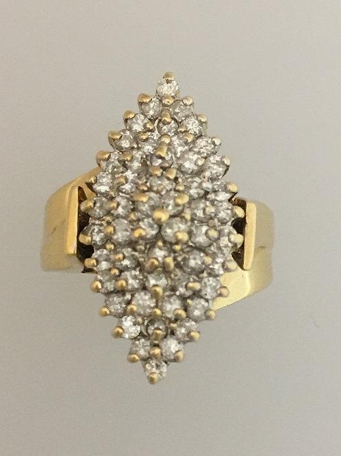 14k Yellow Gold .81 Diamond Ring Size - 7 1/2