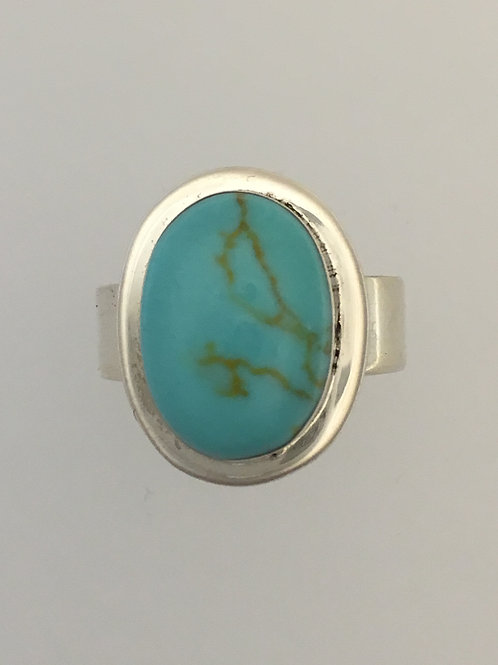 925 & Turquoise Ring Size - 6 1/2