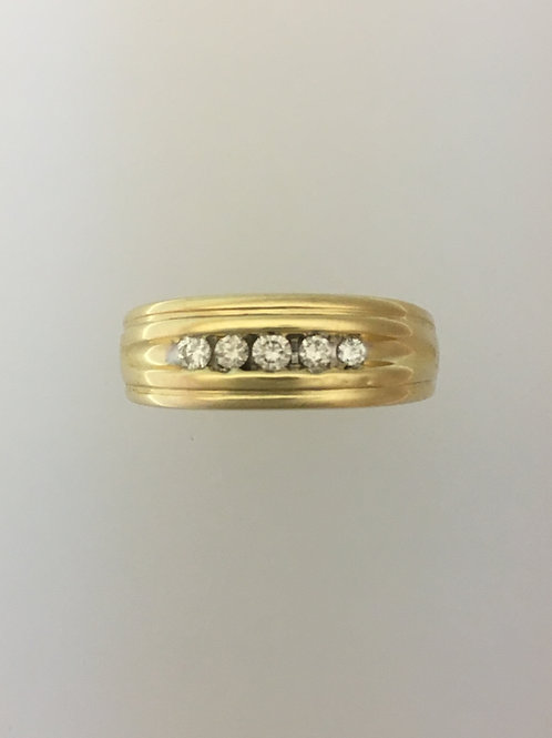 14k Yellow Gold .75 TW Diamond Ring Size - 11