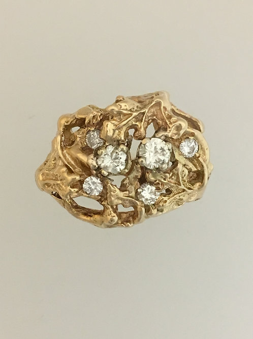 14k Yellow Gold .70 Diamond Ring Size - 6 1/2