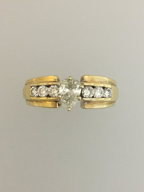 14k Yellow Gold .57 CS 1.17 Diamond TW Ring Size - 5 3/4
